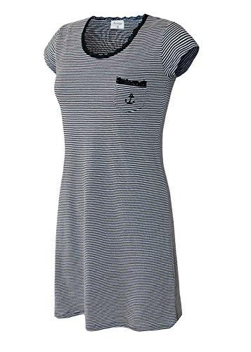 Nachthemd Damen Pyjama Damen Sleep Shirt Damen Nachthemd aus 100% Baumwolle softweich Gr M/40-42