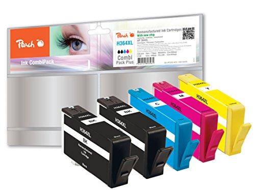 Preisvergleich Produktbild Peach H364XL 2xbk, c, m, y Spar Pack Plus Druckerpatronen mit Chip kompatibel zu HP Nummer 364XL