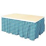 """Beistle Oktoberfest Table Skirting, 29"""" x 14', Blue/White"""
