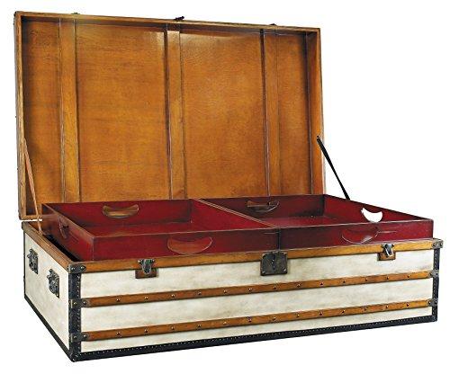 Authentic Models Belle époque, Petit Polo Club Vintage Toile luggae Meuble de Rangement Coffre/Table Basse