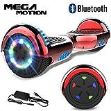 Mega Motion 6.5 Pulgadas Hoverboard E-Shine-2018 Scooter Eléctrico Self-Balance E-Skateboard Certificado UL 2272 LED-Ruedas y Luz LED-Altavoz Bluetooth