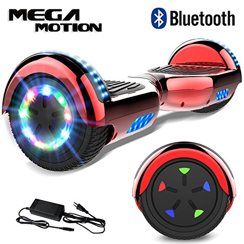 Mega Motion 6.5Pulgadas Hoverboard E-Shine-2018 Scooter Eléctrico Self-Balance E-Skateboard Certificado UL 2272 LED-Ruedas y Luz LED-Altavoz Bluetooth