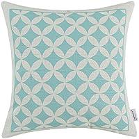 Euphoria Home Cuscini Federa Circles Corone Figure Geometriche Azzurro 45cm X 45cm