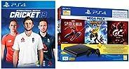 PS4 1TB Slim Bundled with Spider-Man, GTaSport, Ratchet & Clank And PSN 3Month&Cricket 19 Internationa