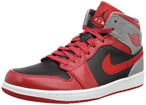 Nike AIR JORDAN 1 MID Baskets Homme 554724-603-42 - 8.5 Rouge (Air Jordan 554724)