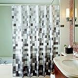 Eanshome Schwarz Weiß Polyester Gewebe wasserdicht Badezimmer Duschvorhang