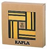 Kapla 9000107 Holzplättchen 40er Box, gelb und 20 grün + Buch