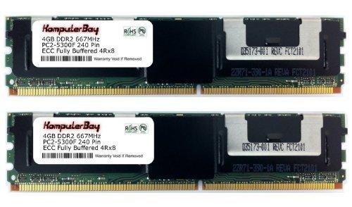 Komputerbay 8GB (2x 4GB) DDR2667MHz PC2-5300ECC FB Quad Rank 4RX8Voll gepufferter Speicher RAM - Fb, Voll Gepuffert