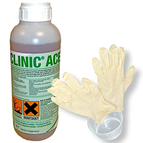 1lt-clinic-ace-glyphosate-very-strong-professional-weedkiller-free-gloves-and-measure