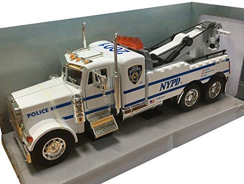 Peterbilt Tow Truck [Jada 05011], NYPD, 1:32 Die - Diecast Tow Truck
