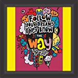 #6: IT2M 13 inches Wooden Framed Motivational Poster Acrylic Glass Cover (3339F, Black, 13x13 inches)