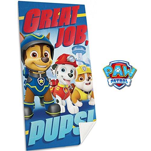 """Toppe termoadesive blu PUPS!/"""" PAW PATROL SQUADRA DEI CUCCIOLI /""""GREAT JOBS"""