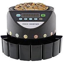 MVPOWER Münzzähler Münzzählmaschine Münzsortierer Euro-Münzen Geldzählmaschine Coin Counter Sorter 120 Stück/Min