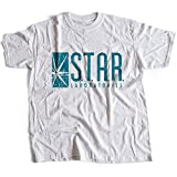 9351w Star Labs Mens T-Shirt Heroes Laboratories Iron Man Ark Reactor The Flash Green Arrow(XX-Large,White)