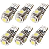 TOOGOO(R) 6 Sans erreur T10 194 168 W5W 501 5050 5 SMD LED Blanc Voiture Lateral Lampe Ampoule