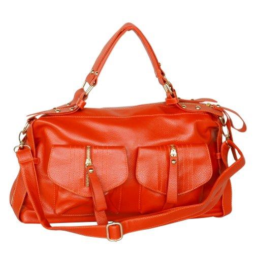Blancho , Sac pour femme à porter à l'épaule Orange Orange Medium