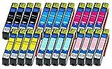 24 Druckerpatronen XL alle Farben ersetzen Epson Nr.24XL T2431 T2432 T2433 T2434 T3435 T2436 geeignet z.B. für Epson Expression Photo XP 55 , Photo XP-750 , Photo XP-760 , Photo XP-850 , XP-860 , Photo XP-950 , Photo XP-960