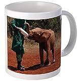 CafePress–bebé elefante–taza de café única ml, taza de café, taza de té, blanco, Mega