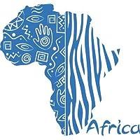 Adesivo da parete per Soggiorno adesivo carta Zebra Africa continente,