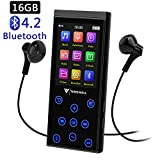 16GB Bluetooth MP3 Player, tragbarer störungsfreier HiFi Musikplayer mit FM-Radio/Voice-Recorder, 2.4 Zoll TFT...