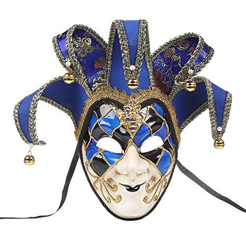 ier Tanzmaske Venezianische Joker Maskerade Karneval Party Ballmaske (Blau) ()