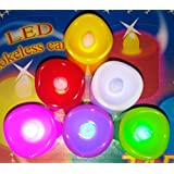 PBPL Lowprice Online Set Of 6 Flame Less Battery Operated Tea Light Candles/Led Candles/Party Candles Multi Color