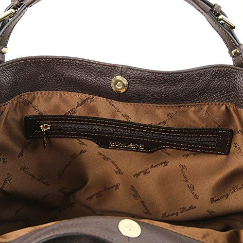 Tuscany Leather Ambrosia - Borsa in pelle morbida con tracolla - TL141516 (Rosa Antico) Testa di Moro