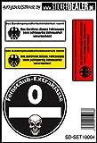 JDM- Aufkleberset Sticker Feinstaub Plakette Fun Lustig