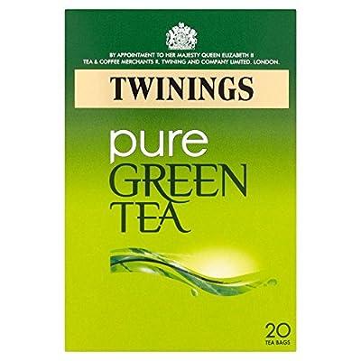 Twinings - Thé vert nature - lot de 4 boîtes de 20 sachets