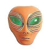NET TOYS Alien Maske Außerirdischer Kopf hautfarben UFO Faschingsmaske Space Karnevalsmaske Halloween Alienmaske Intergalaktische Mottoparty Kostüm Zubehör