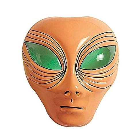 Masque Alien Extraterrestre Tête Couleur Chair OVNI Masque de Carnaval