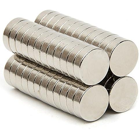 100pcs 6x 1,5mm, N42magneti al neodimio Rare Earth Disco Rotondo Misura S multiuso frigorifero, fai da te, costruzione, scientifica, artigianato e ufficio Magneti...