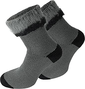 3 Paar Original normani® warme Wintersocken mit Schafwolle Farbe Extrem/Hot/Grau/Schwarz Größe 35/38