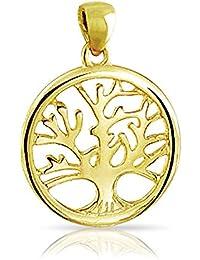 Bling Jewelry Oro Plata Esterlina Vermeil Abierto Árbol de la Vida Colgante Dico