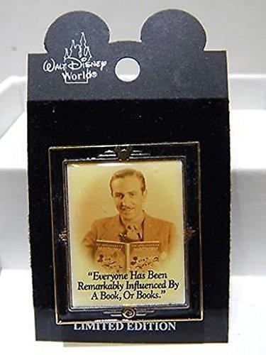 Disney Pin Limited Edition Bild von Walt Disney jeder hat ein Buch von oder Bücher von 2002Release (Lanyard Disneyland)