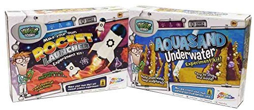 Experiments DOUBLE PACK Make Your Own Rocket Launcher & Underwater Aquasand