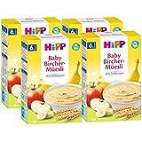 Hipp biologique et des céréales Bon Matin porridge Bircher muesli, 4-pack (4 x 250g)