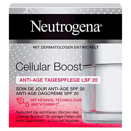 Neutrogena Cellular Boost Anti-Age Tagespflege, mit Hexinol, Vitamin C und LSF 20