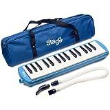 Stagg MELOSTA32BL Melodica 32 touches avec étui Bleu