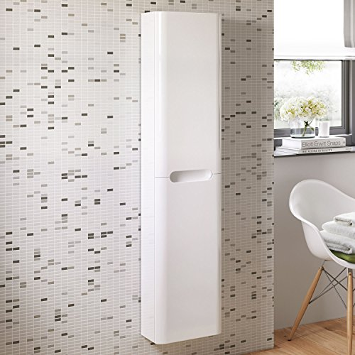 1400 Mm Tall White Bathroom Furniture Wall Hung Cupboard