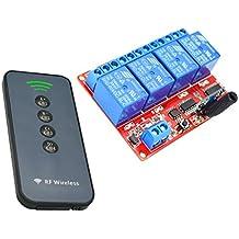 MagiDeal Scheda Di Controllo A 4 Canale Modulo Relè Con Telecomando Per Arduino 5V