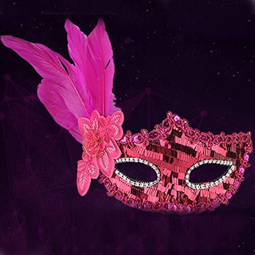 SilenceID Maskerade Maske Halloween Cosplay Kostüm Maske Maskerade Halbe Gesichtsmaske für Männer Frauen (Rave Kostüm Für Paare)
