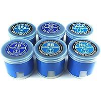 Anchor Tackle Surtido de botes de plomos split shot (estndares, double cut, tamao pequeo), color azul