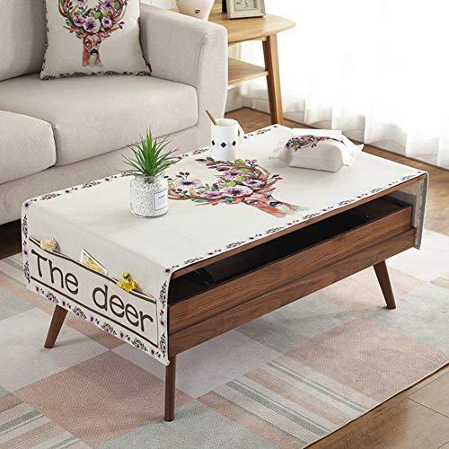Nordische Baumwolle und leinen Wohnzimmer couchtisch tischtuch rechteckig Kaffee pad tischdecke TV...