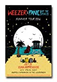 Panic at The Disco - Weezer Poster - 2016 Death Of a Bachelor Tour by Concert Thrillz190 by Concert Thrillz190