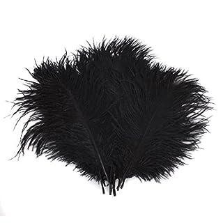 Butterme 10pcs réel naturelles plumes d'autruche grandes plumes pour les chapeaux, maison, mariage, fête décoration, 15-20cm