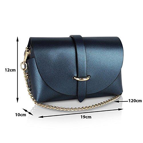 Glamexx24 Borsa vera Palle da Donna a mano , Casual Borsetta a tracolla, elegante Clutch Made in Italy 1.002 1.002.7 Khaki