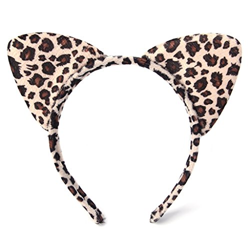Form, Kopfband, Tier Cosplay Halloween Party Kostüm, Leopard ()