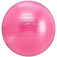 Rulyt Unisex-Youth F-GYM-65-22 Lifefit Anti-Burst Gymnastic Ball, Diameter-65 Cm, Color-Claret, One Size