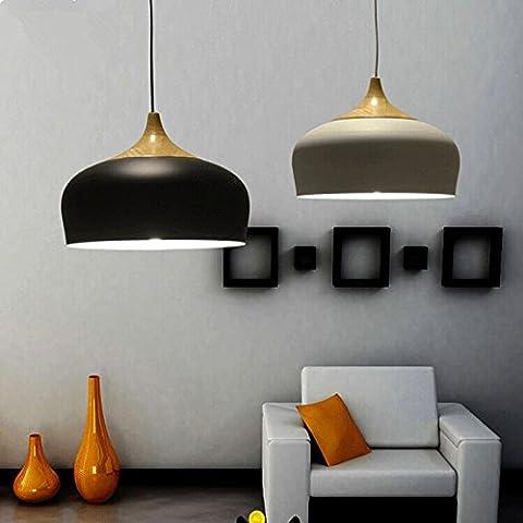 FEI&S Home Interior decor minimalista di illuminazione Cafe ristoranti ristoranti imitazione legno grano lampadario di nocciole,nero 30cm,con il migliore servizio